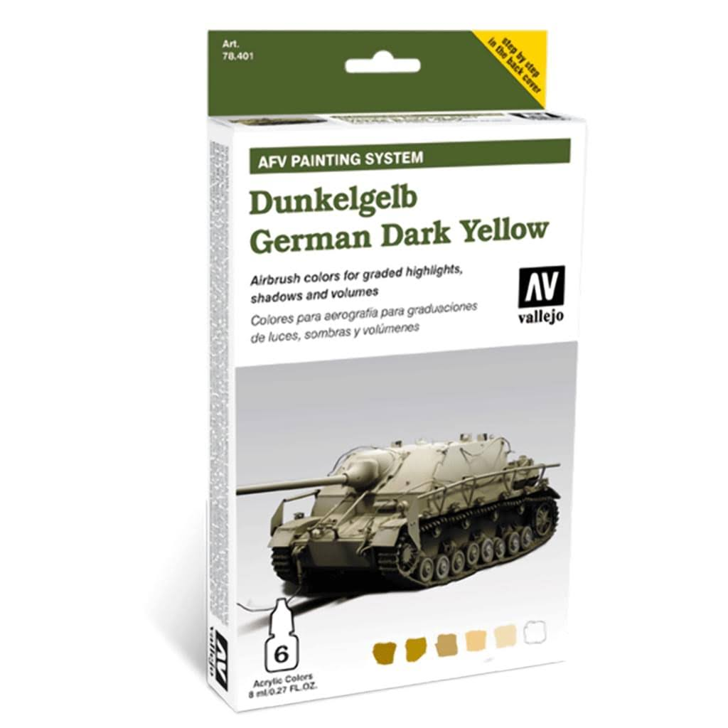 Vallejo 78401 AFV Paint Set - German Dark Yellow, 8ml