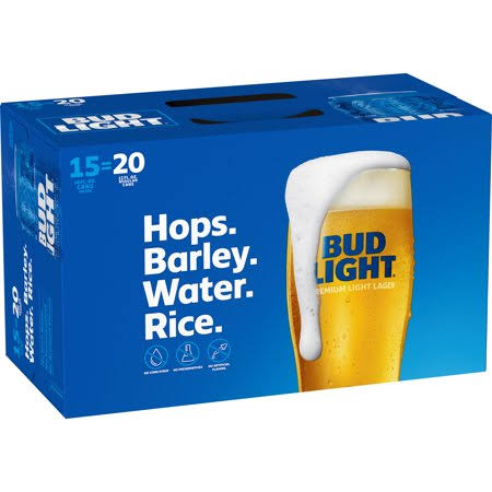 Bud Light Beer - 15x16 Oz Cans