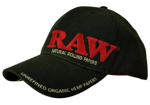 Raw Rolling Papers Branded Smokers Cap with Packing Tool - Baseball Snapback