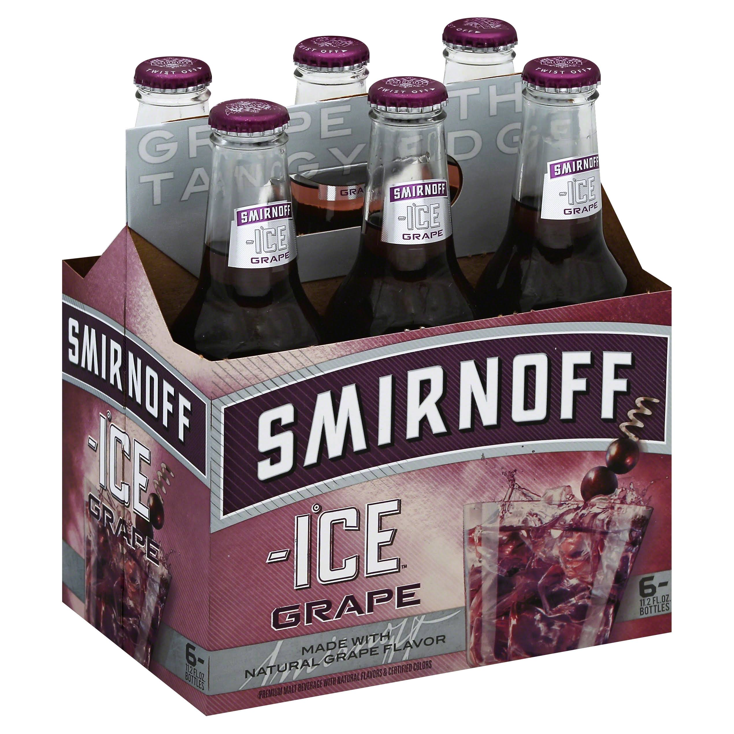 Smirnoff Ice Wild Grape Beer - 6 Bottles