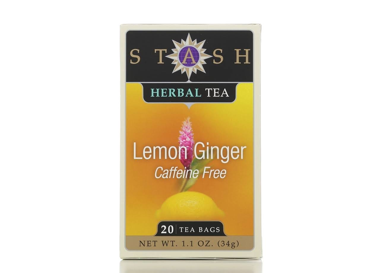 Stash Herbal Tea - Lemon Ginger, 20ct, 1.1oz