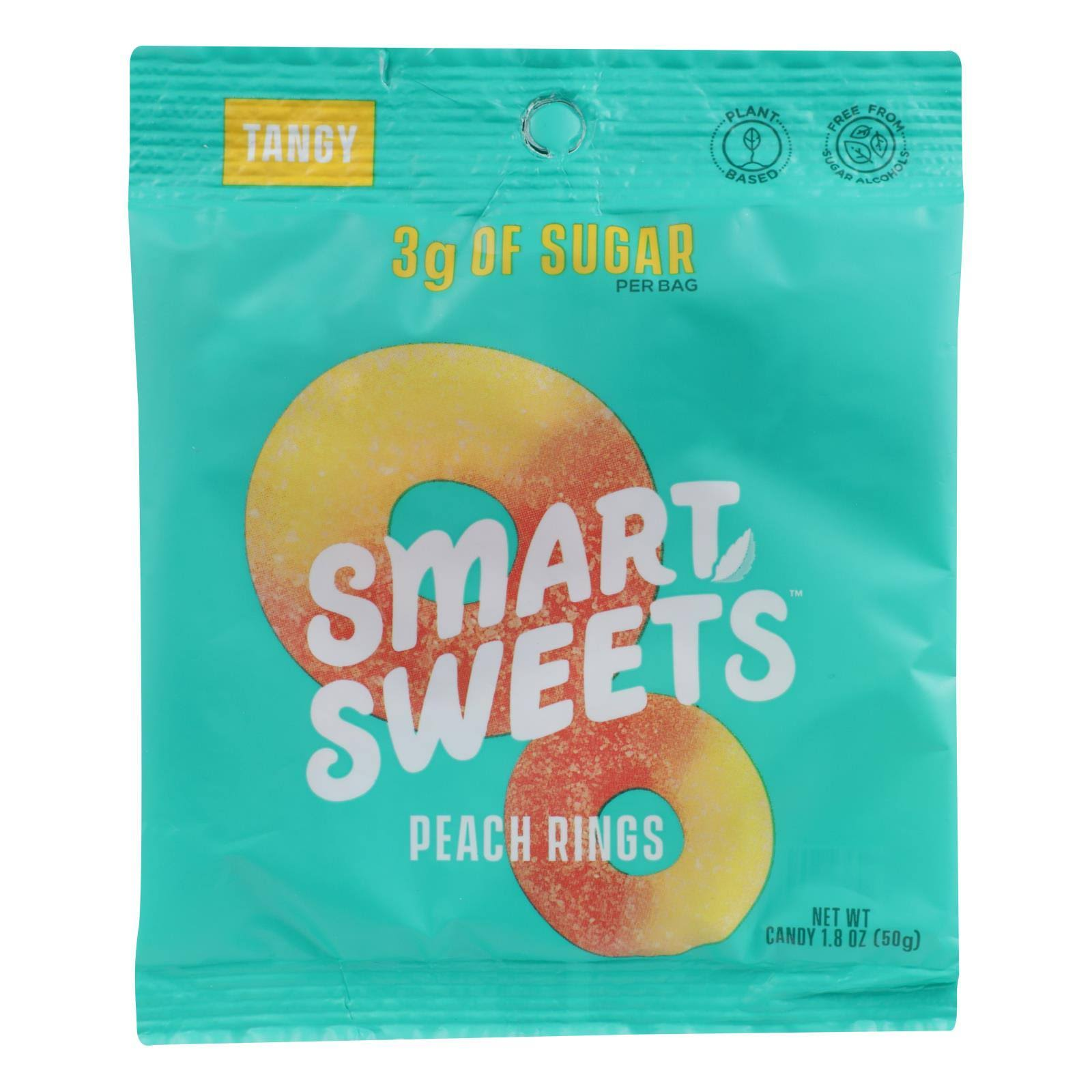 Smart Sweets Candy, Tangy, Peach Rings - 1.8 oz