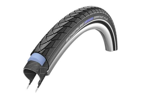 Schwalbe Marathon Plus Smart Guard RLX Wire Tire - Black, Wire Bead