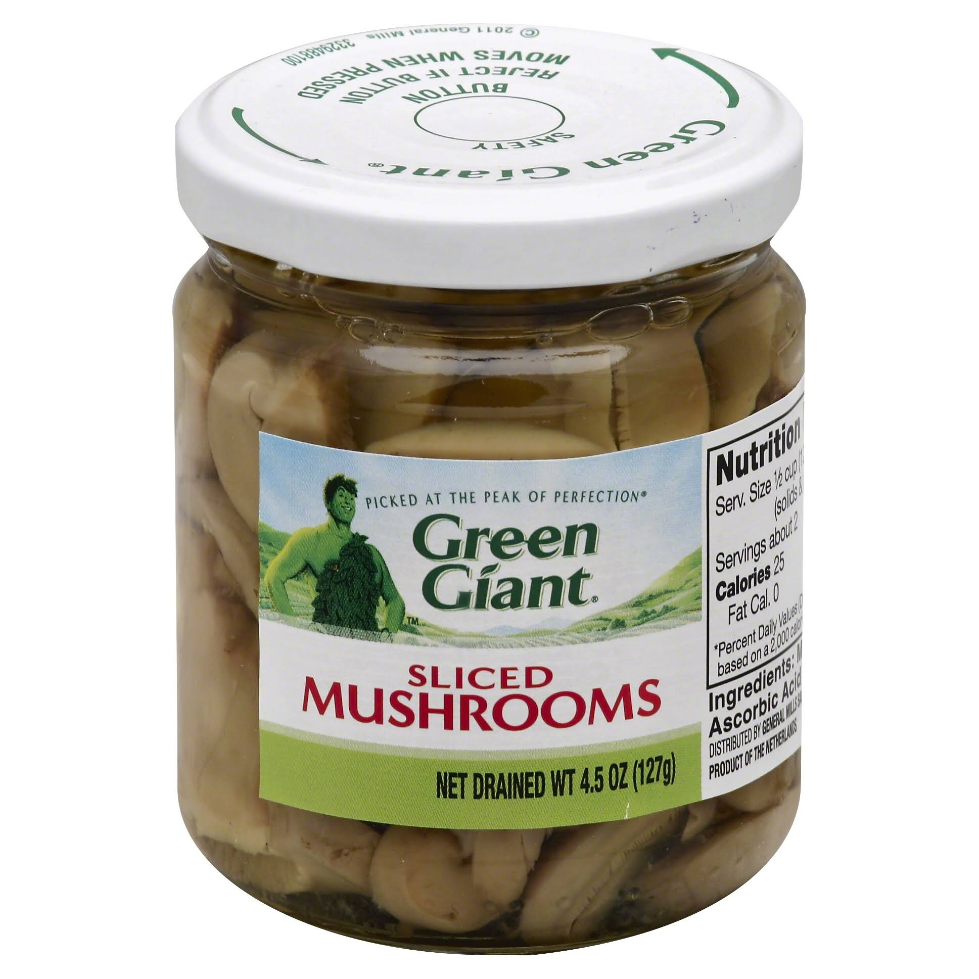 Green Giant Sliced Mushrooms - 4.5oz