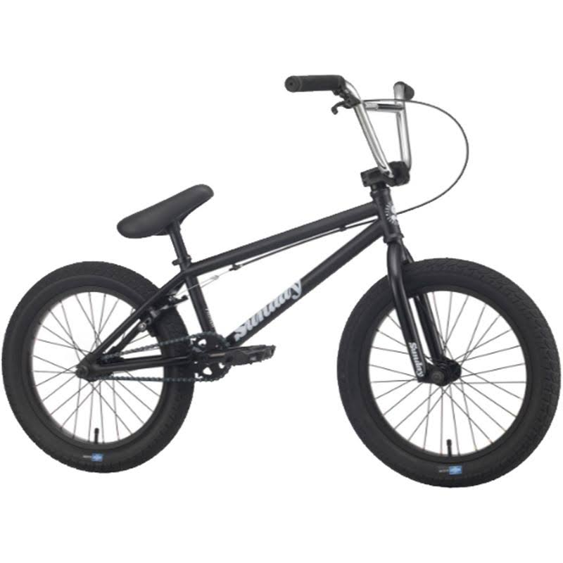"Sunday 2020 Primer 18"" BMX Bike Matte Black"
