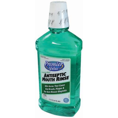 Premier Value Antiseptic Mouthwash - Spring Mint, 33.8oz