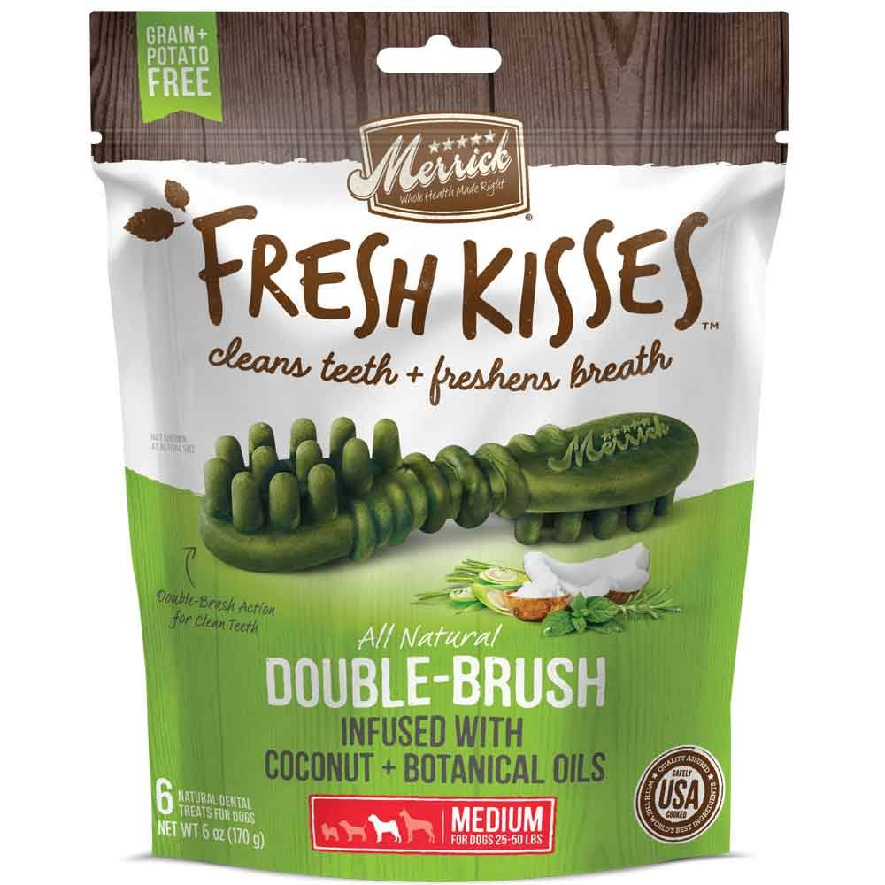 Merrick Fresh Kisses Grain Free Coconut Oil & Botanicals Medium Dental Dog Treats - 6 oz, 6 Count