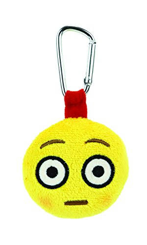 Emoji Backpack Clip Blushed Face Plush