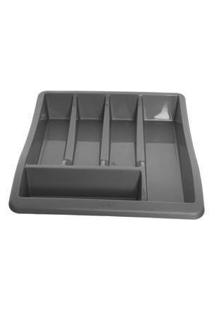 Whitefurze Silver Plastic Cutlery Tray