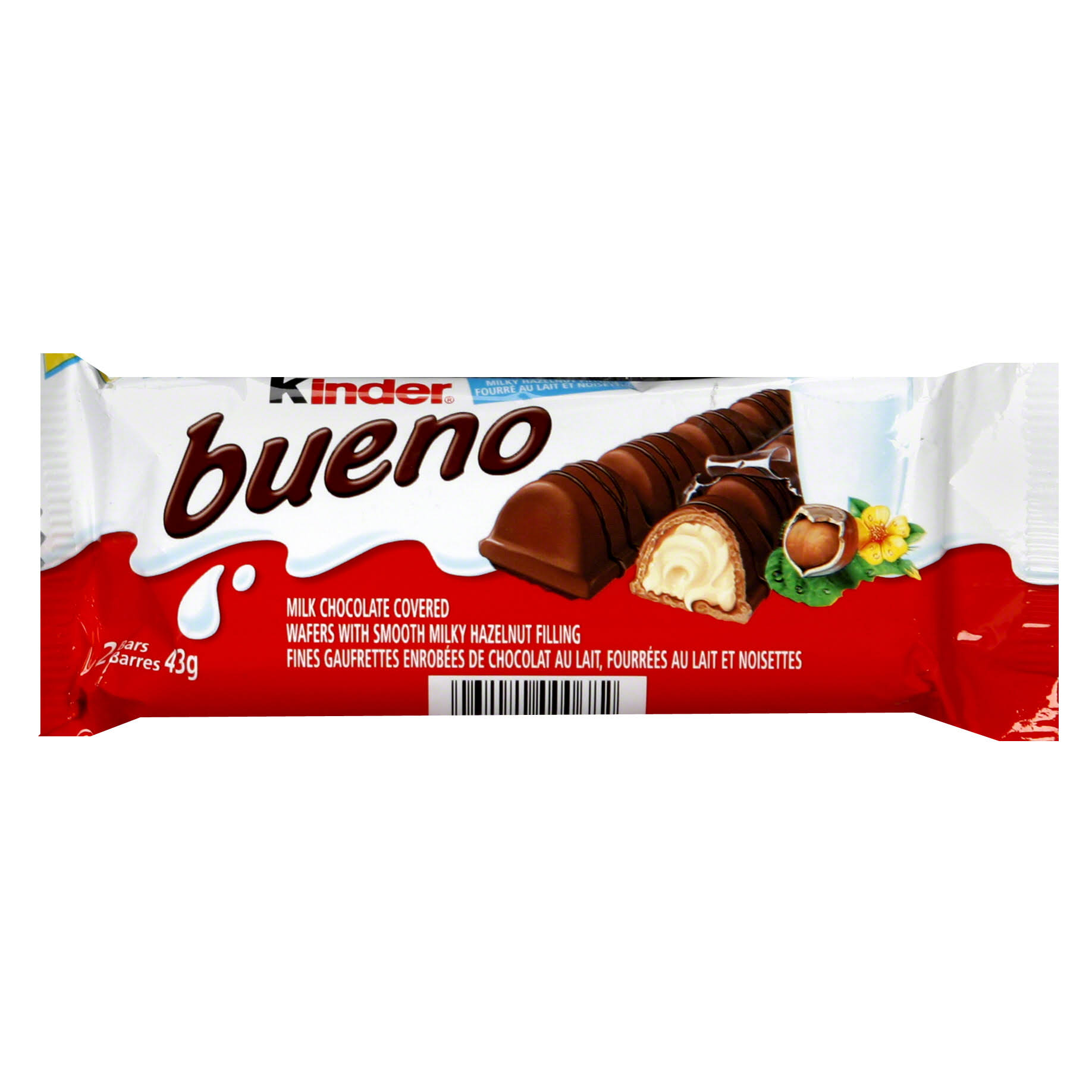 Kinder Bueno Chocolate Bars - 43g, 30ct