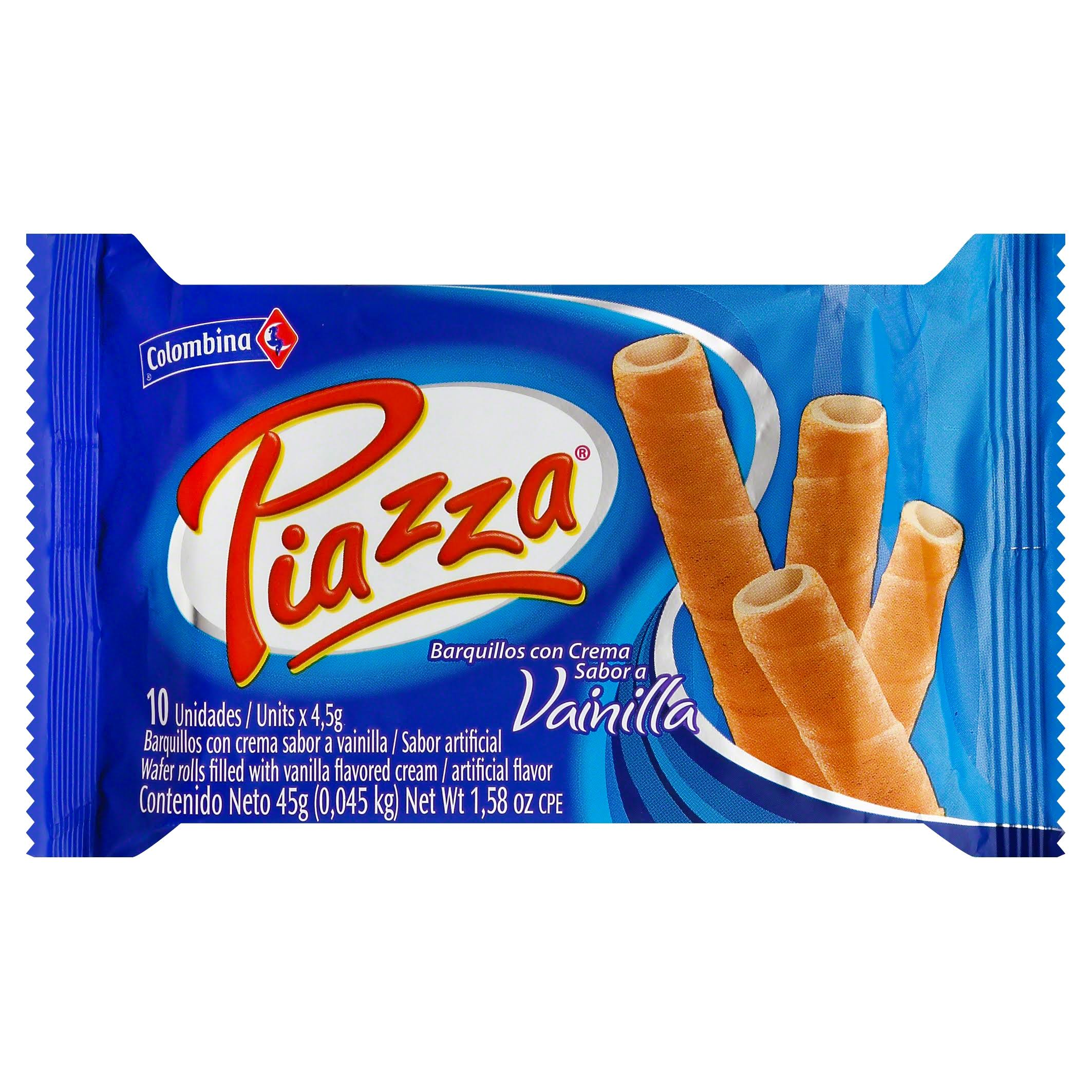 Piazza Vainilla Wafers - 45g