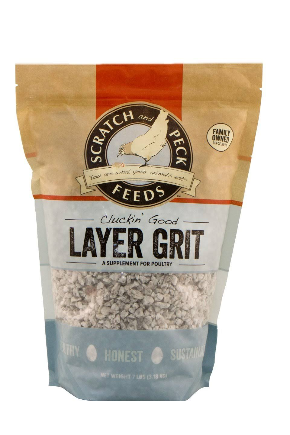 Scratch and Peck Feeds - Cluckin' Good Layer Grit Supplement for Chickens and Ducks - 7-lbs