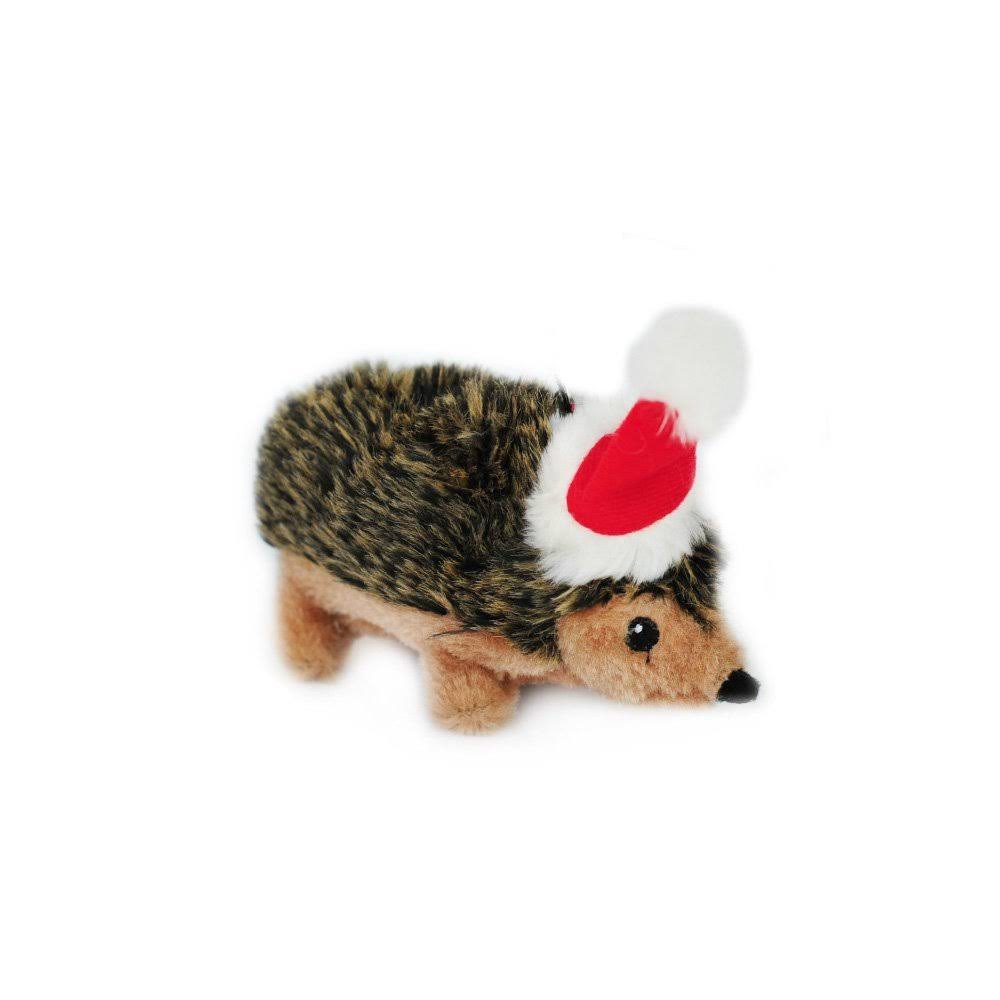 ZippyPaws Holiday Hedgehog Squeaky Plush Dog Toy - Small