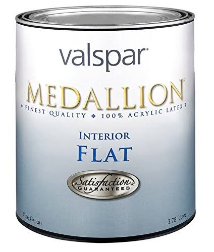 Valspar Medallion Interior Acrylic Flat Wall Paint - 1 Quart, Clear Base