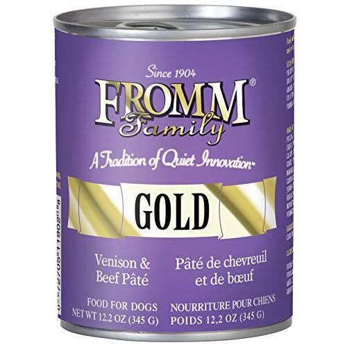 Fromm Family Gold Adult Dog Wet Food - Gold Venison & Beef Pate, 345g