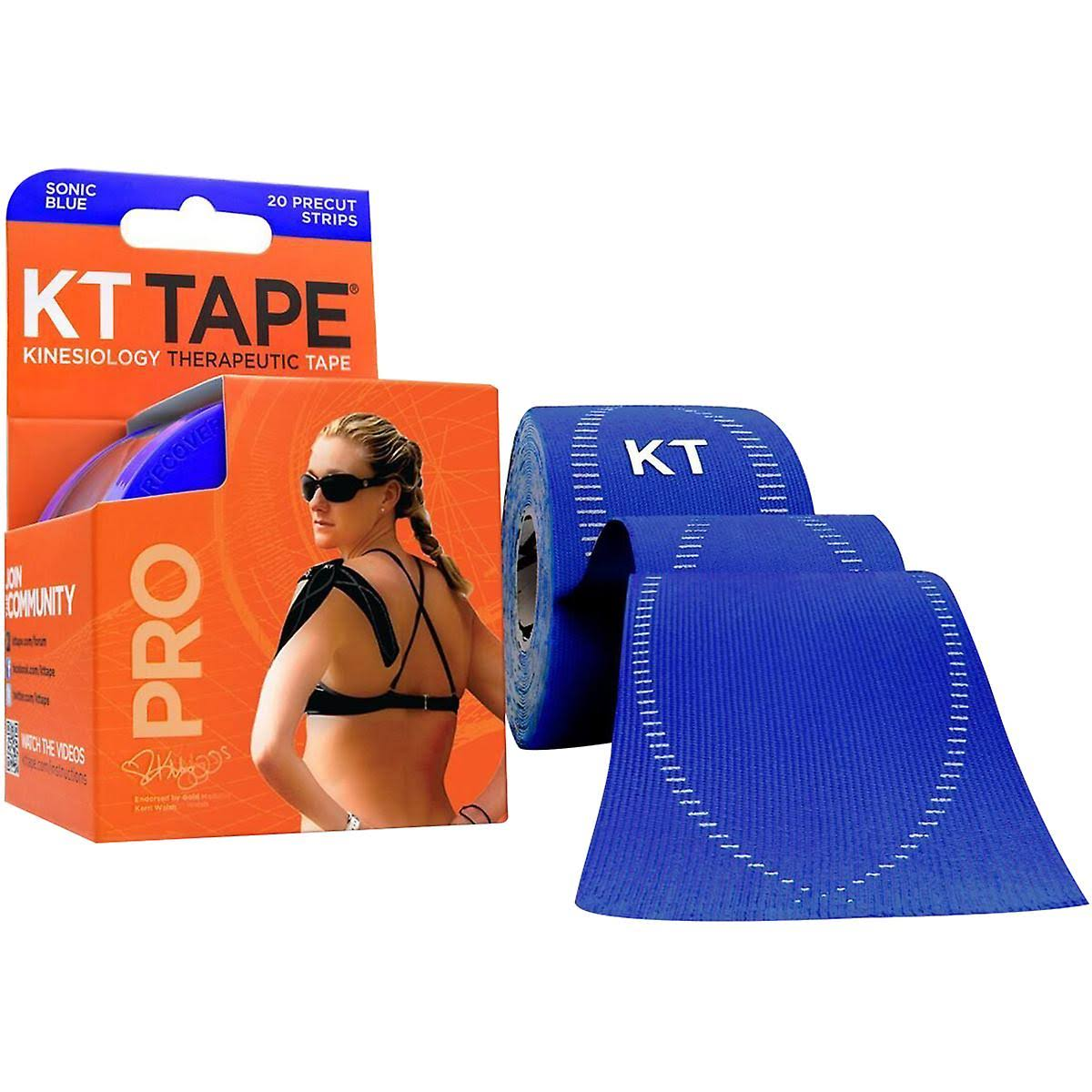 KT TAPE PRO Synthetic Elastic Kinesiology 20 Pre Cut Strips
