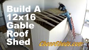 12x20 Storage Shed Kits by How To Build A 12x20 Gable Roof Shed In 10 Minutes Youtube