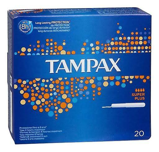 Tampax Super Plus Tampons Applicator Cardboard - 20pk