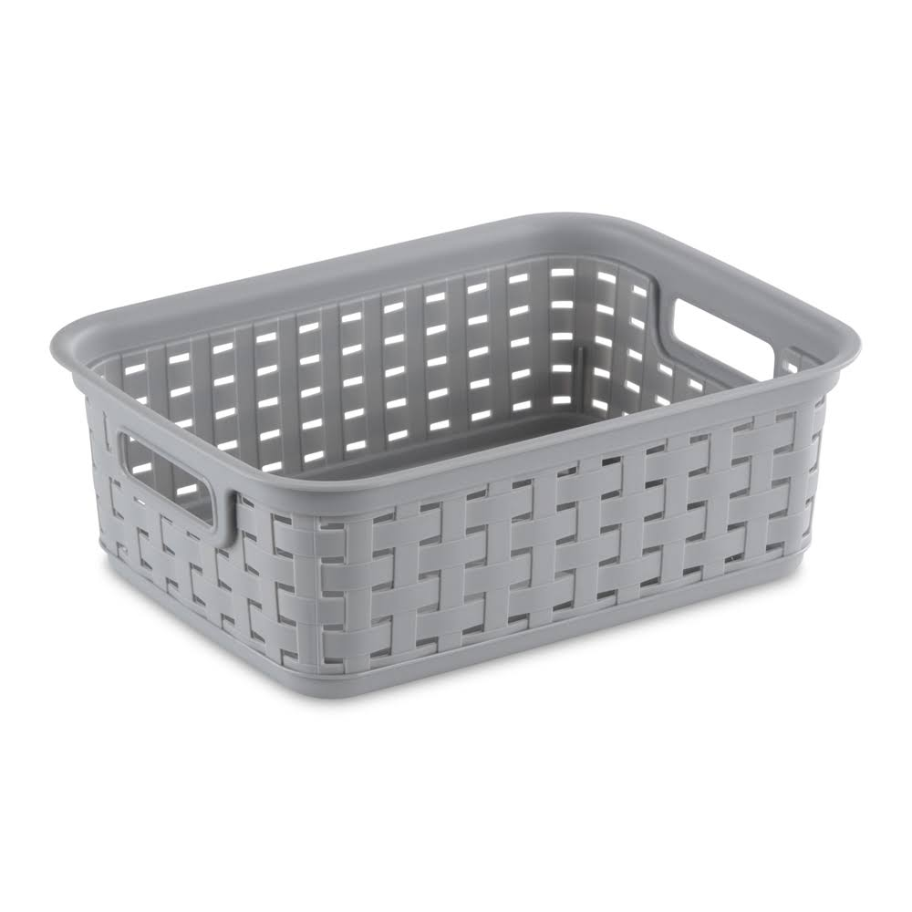 Sterilite Small Cement Weave Basket