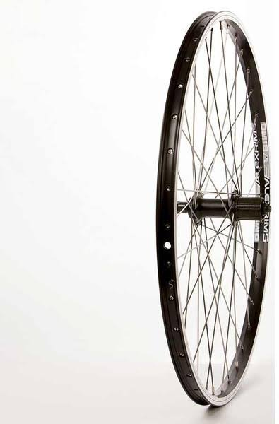 The Wheel Shop, Rear 26'' Wheel, Alex Dm-18 Black / Fh-rm70 Black, 36 Stainless Spokes, QR Axle, 8/9 SP Cassette