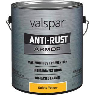 Valspar Anti-Rust Armor Enamel Paint - Safety Yellow, 1gal