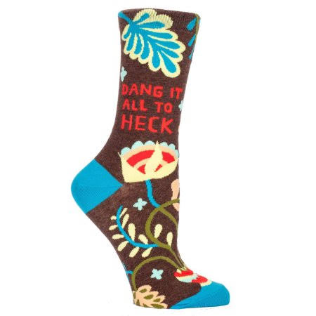 Blue Q Women's Crew Socks - Dang It All to Heck