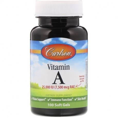 Carlson Labs Vitamin A Natural 25000 IU Supplement - 100 Softgels