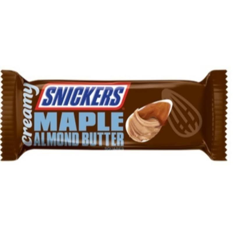 Snickers Chocolate Bar, Maple Almond Butter, Creamy, Squares - 1.40 oz