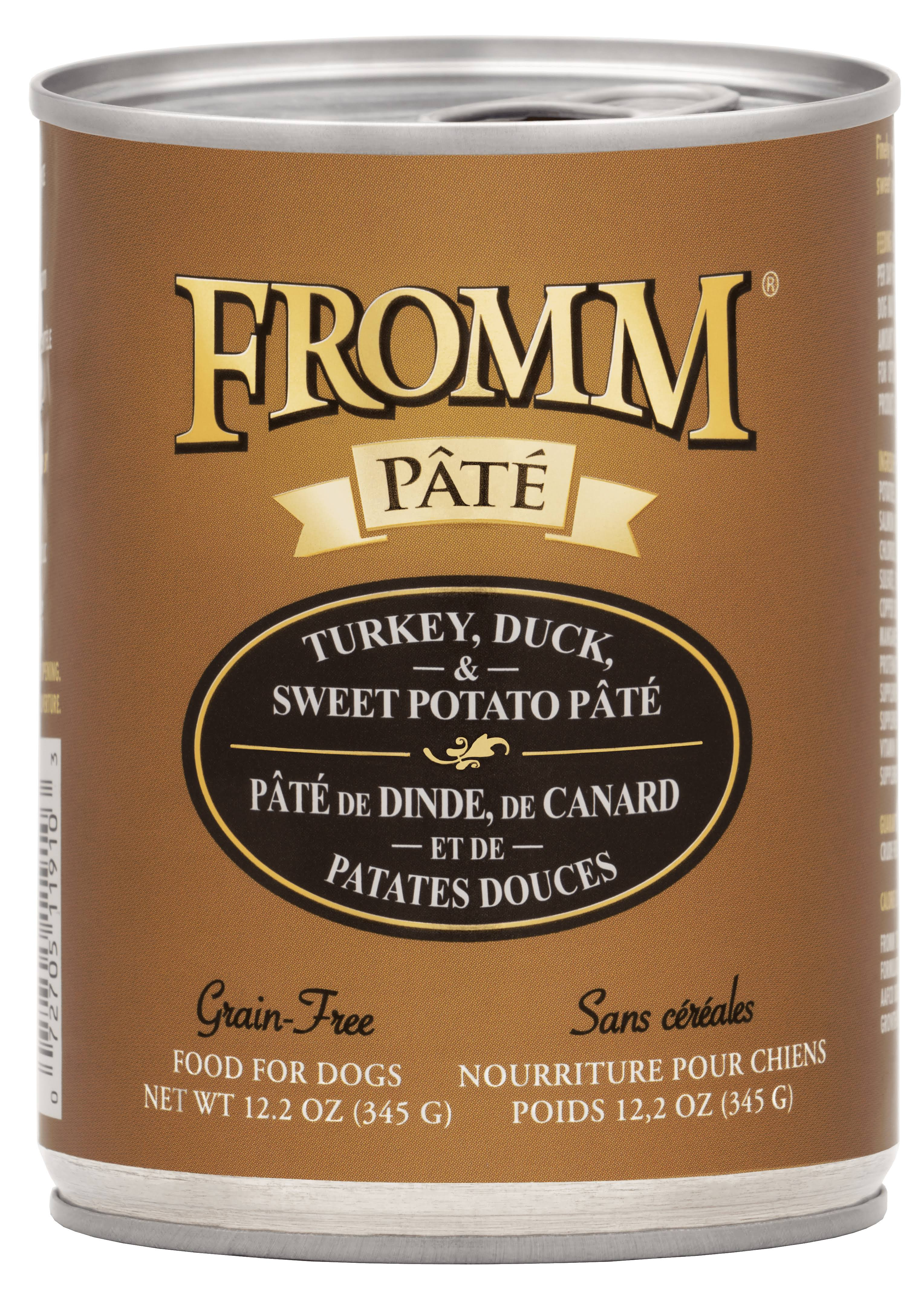 Fromm Turkey, Duck & Sweet Potato Pate Canned Dog Food 12.2 oz