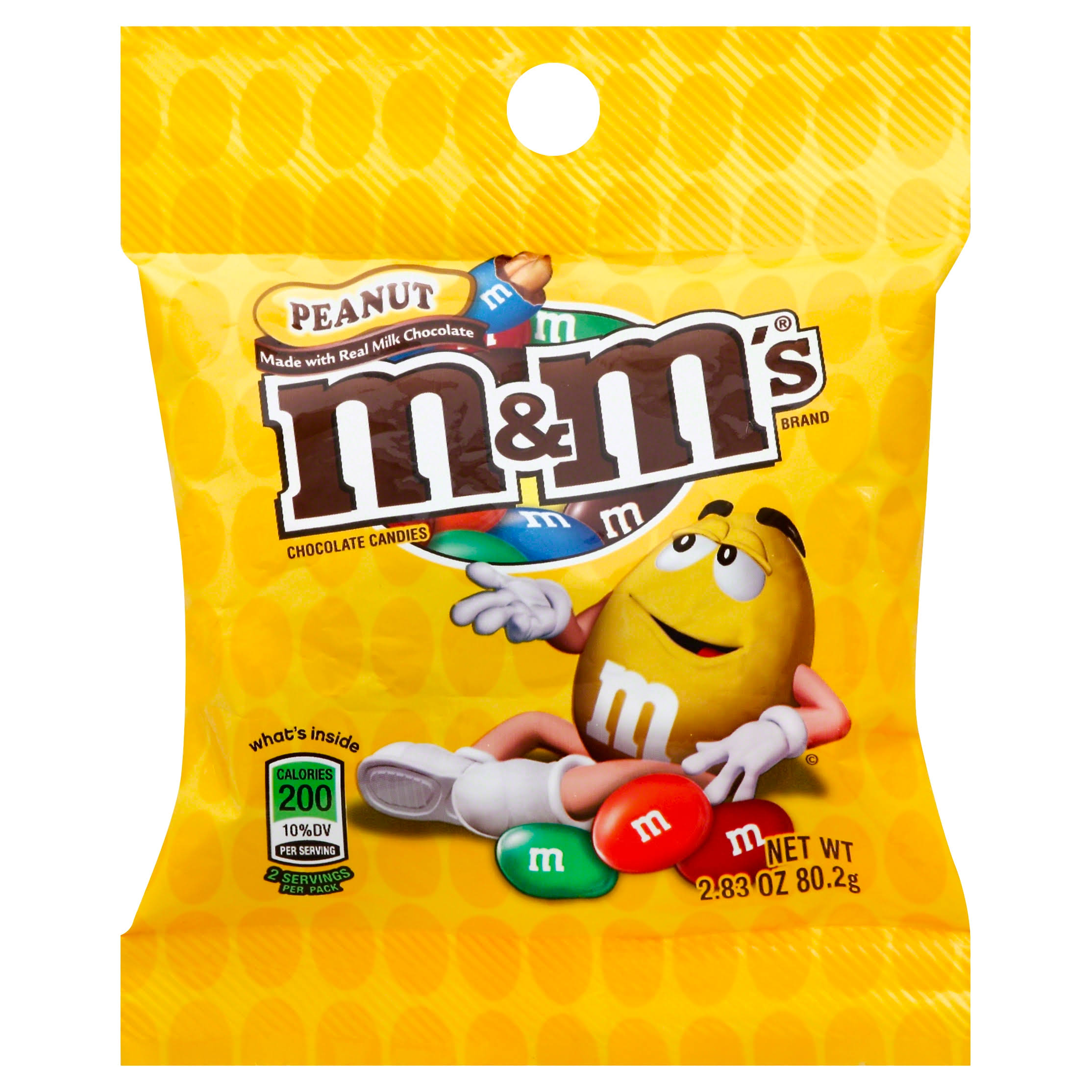 M & M Chocolate Candies, Peanut - 2.83 oz