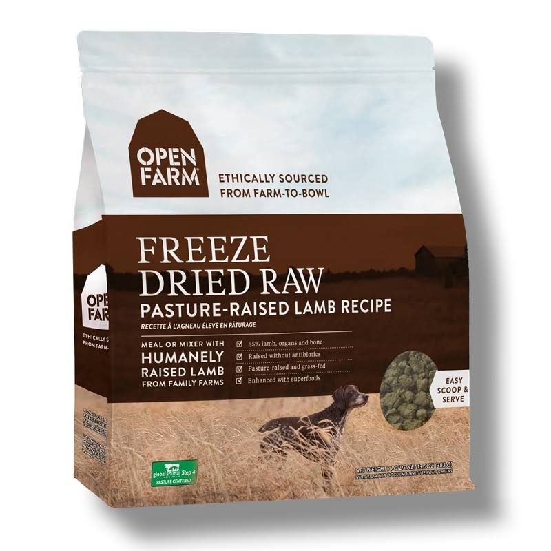 Open Farm Pasture-Raised Lamb Freeze Dried Raw Dog Food - 13.5 oz