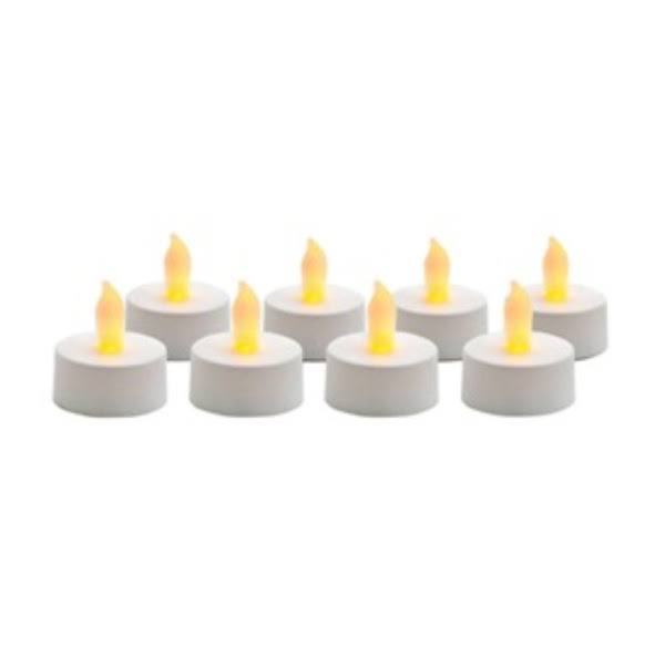 Inglow Flameless Tea Light Candles - White, x8
