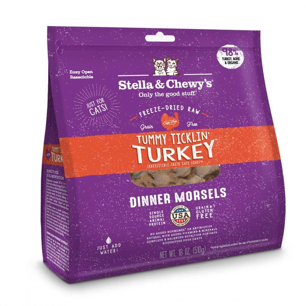 Stella & Chewys Cat Freeze Dried Tummy Ticklin' Turkey Dinner