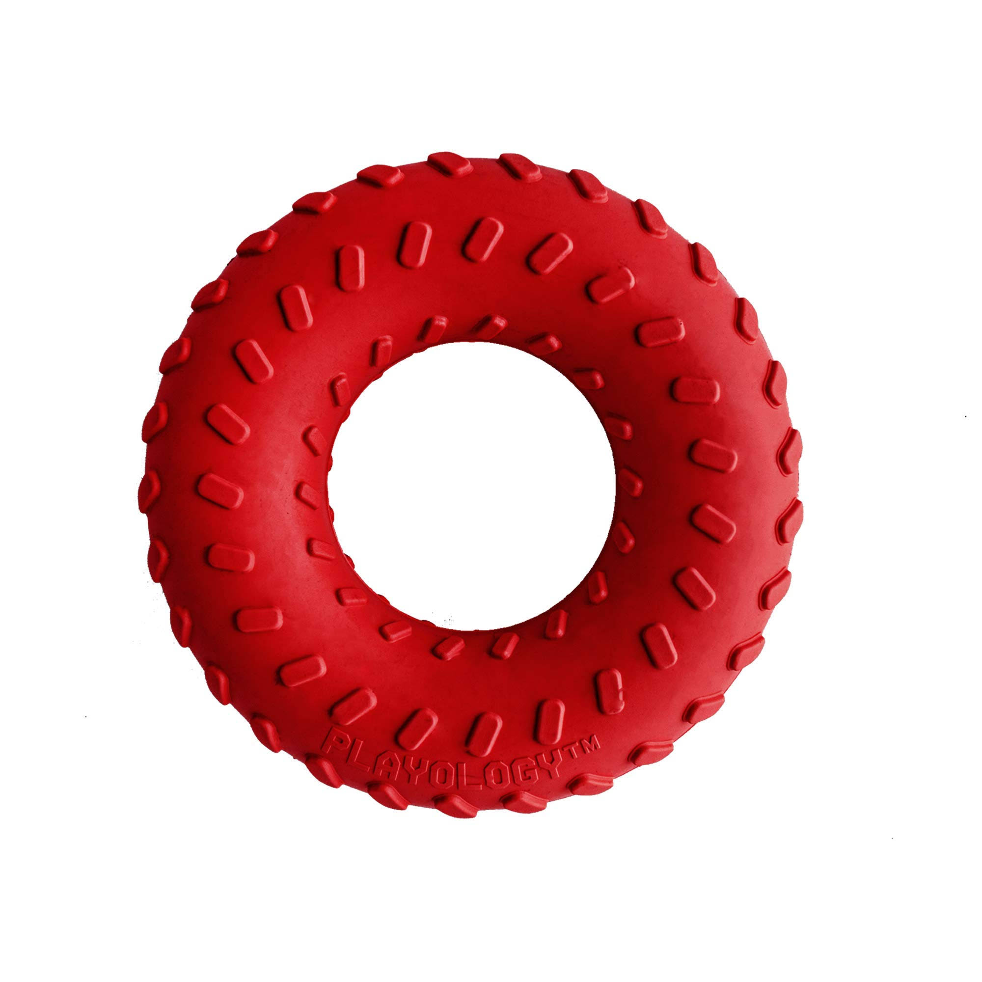 Playology Dual Layer Ring Dog Toy Beef Scent, Large