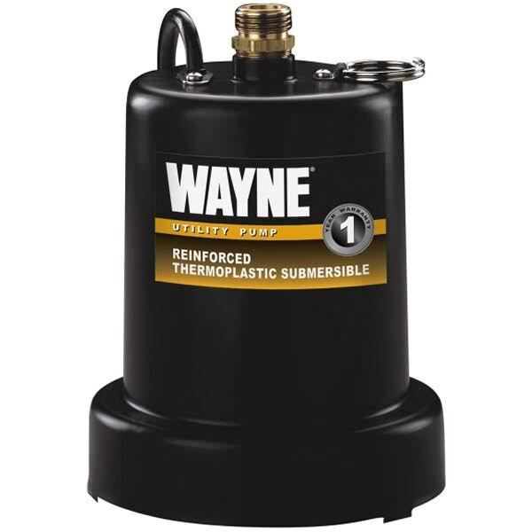 Wayne Water Systems TSC130 0.25 HP Reinforced Submersible Thermoplastic Water Removal Pump