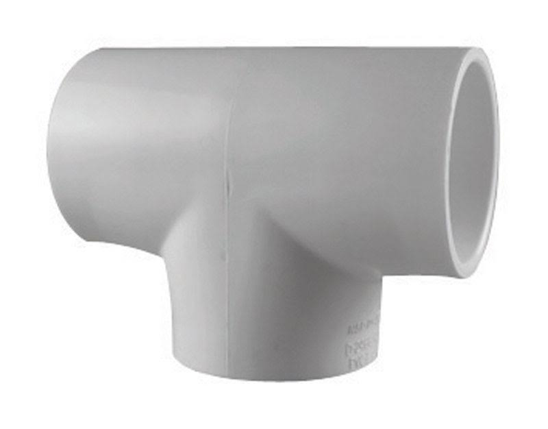"Charlotte PVC Schedule 40 Pipe Tee - 2"", White"