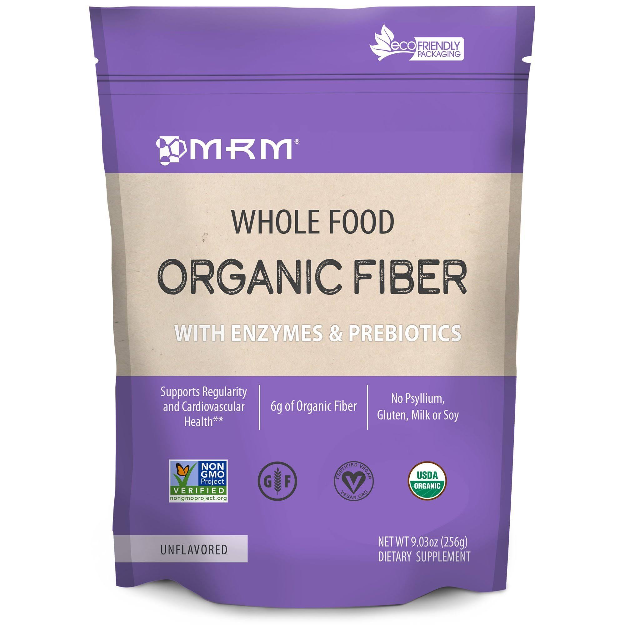 MRM Whole Food Organic Fiber Dietary Supplement - 256g