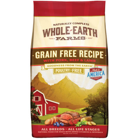 Whole Earth Farms Grain Free Recipe Dog Food - Beef & Lamb
