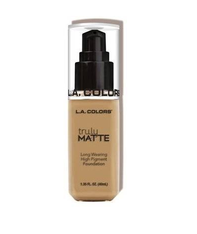 L.A. Colors Truly Matte Foundation - Medium Beige, 1oz