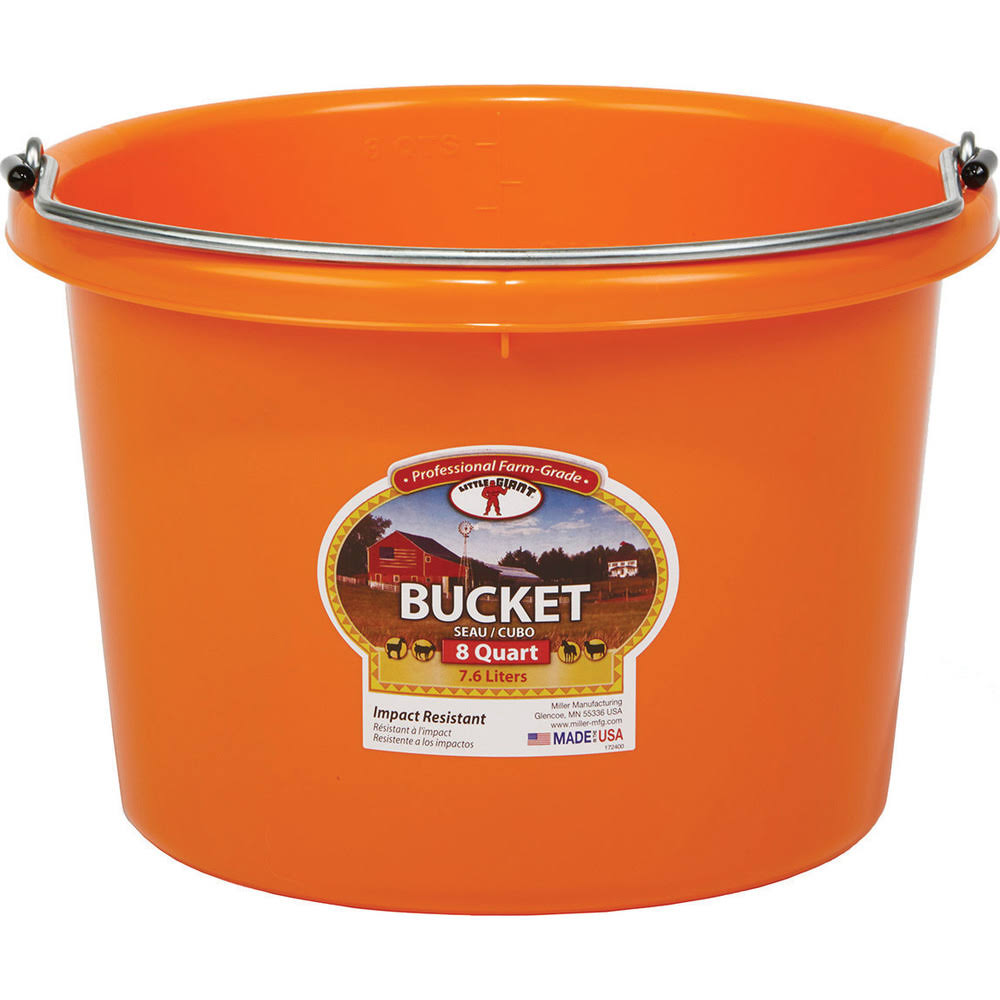 Little Giant 8 Quart Plastic Bucket Orange