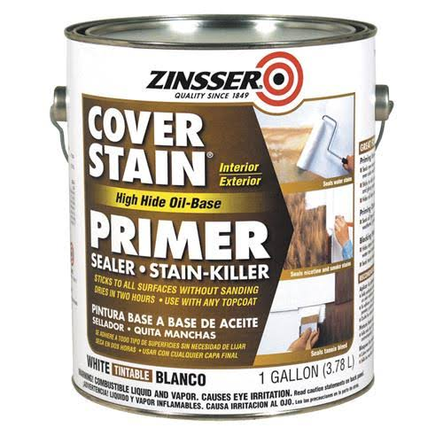 Zinsser Cover-Stain Primer Sealer - White, 1 Gallon