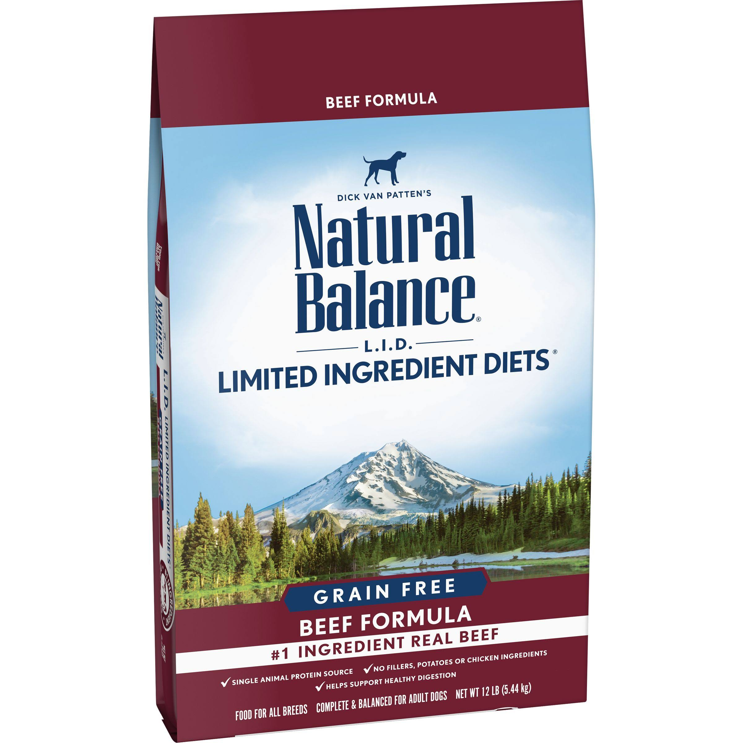 Natural Balance LID High Protein Dog Food - Beef, 12lbs