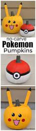 Steps To Carve A Pumpkin Worksheet by No Carve Pokemon Pumpkins Pokemon Pumpkin Pikachu And Pokémon