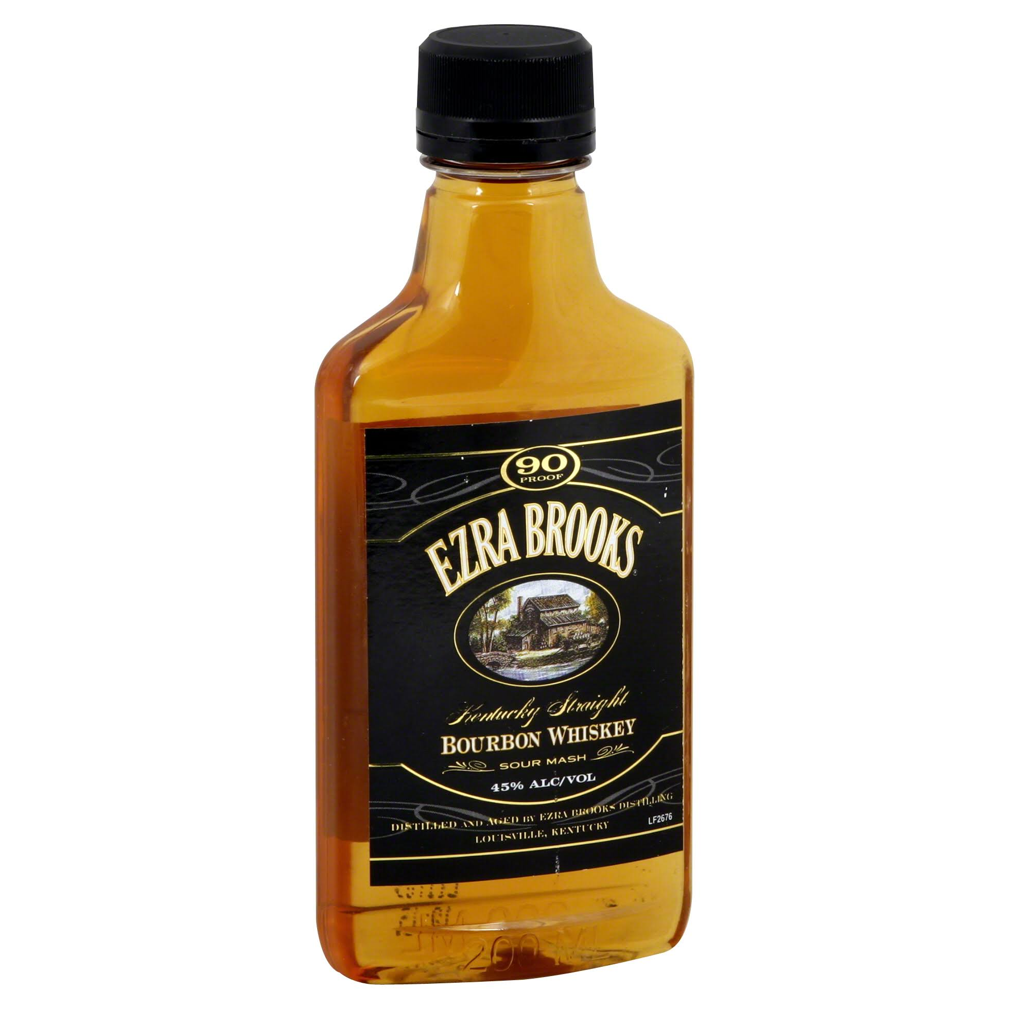Ezra Brooks Bourbon Whiskey, Kentucky Straight, Sour Mash - 200 ml