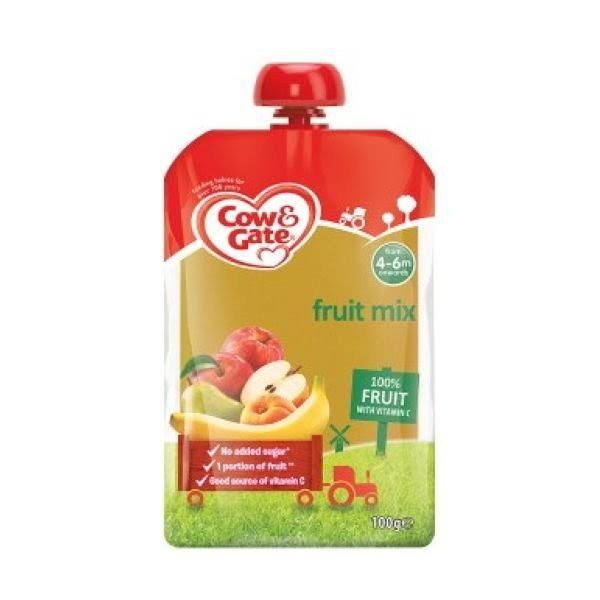 Cow & Gate Fruit Pouch Apple & Banana (6x100GM)