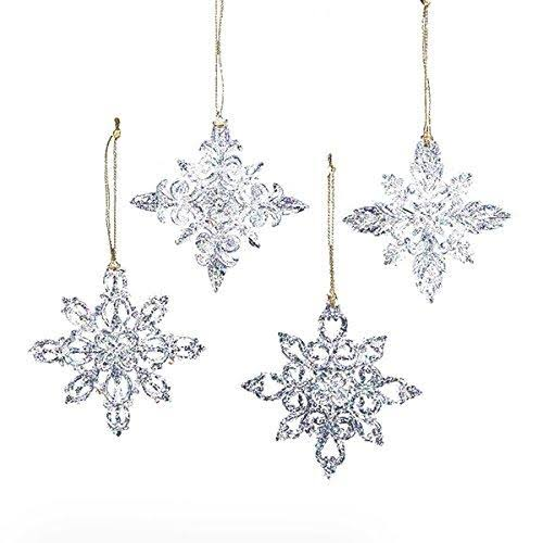 Kurt Adler Snowflake Ornament - 4pcs. 3.5""