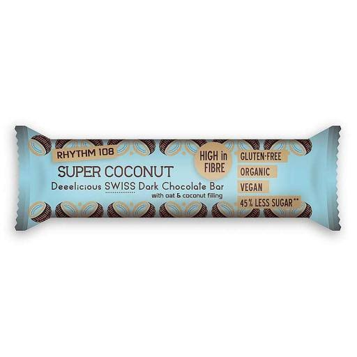 Rhythm 108 Super Coconut Swiss Dark Chocolate Bar - 33g