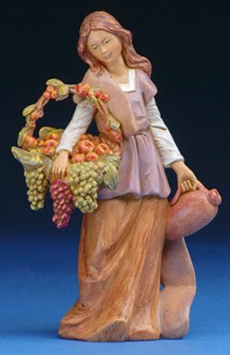 "Fontanini 5"" Bethany Woman with Grapes Fig"