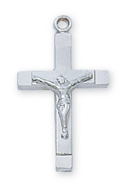 Sterling Silver Crucifix Necklace L8015