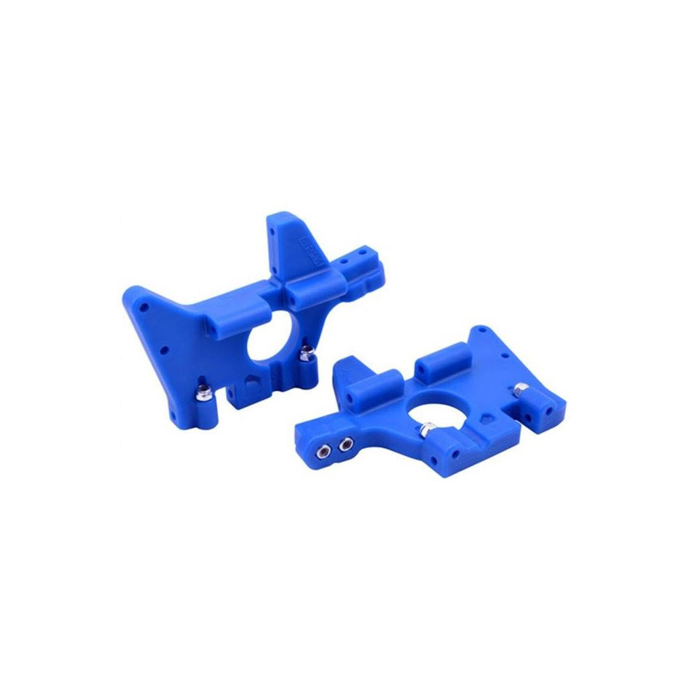 RPM 81065 Traxxas T-Maxx and E-Maxx Front Bulkhead Set - Blue